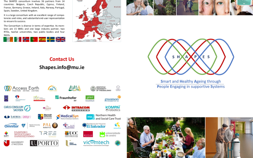 Comunicado de prensa-SHAPES : Apoyar la independencia y la mejora de la calidad de vida del envejecimiento de la población europea.