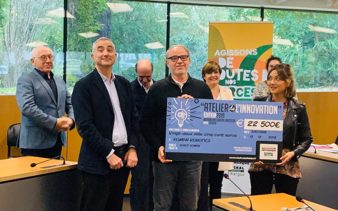 "Happy to win the price ""Atelier de l'Innovation 2019"" with 3 companies in Basque Country !"