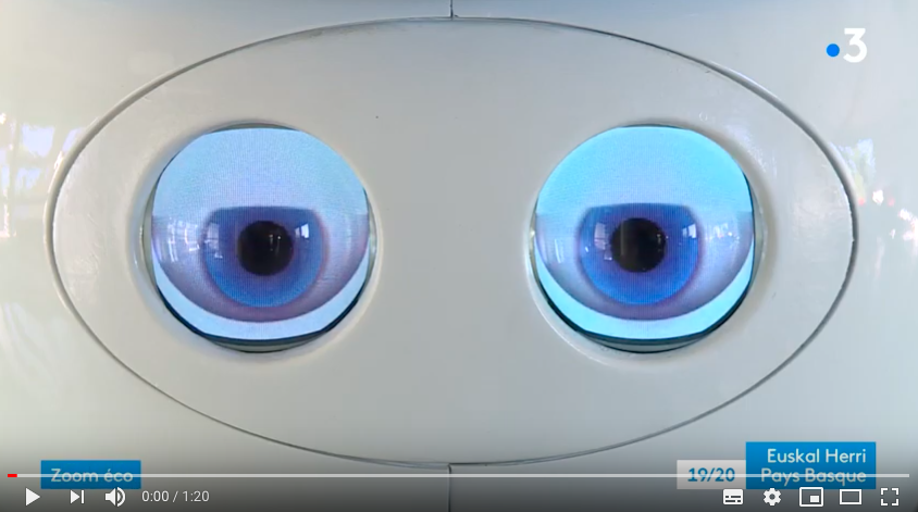 KOMPAÏ el robot en FRANCIA 3 País Vasco – Entrevista